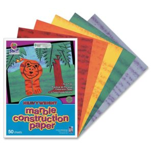 Marble construction paper is perfect for all kinds of Girl Scout crafts.