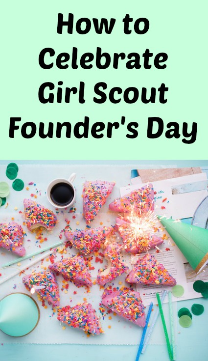 Meeting plan to celebrate Girl Scout Founder's Day with a service project and a SWAP