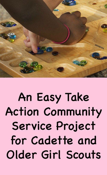 An Easy Take Action Community Service Project for Cadette and Older Girl Scouts