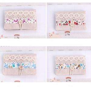 New Hot Girls Retro Coin Bag Floral Purse Wallet Card Case Vogue Classic Gift