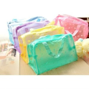 Multipurpose Floral Crystal Comestic Makeup Beauty Storage Travelling Bath Bag
