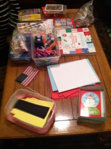 The card making station. Photo by Hannah Gold
