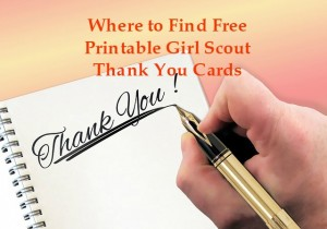 graphic regarding Girl Scout Cookie Thank You Note Printable named Absolutely free Printable Female Scout Cookie Thank Your self Notes Scout Chief