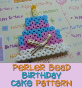 Make a perler bead birthday cake to celebrate Girl Scout Week!