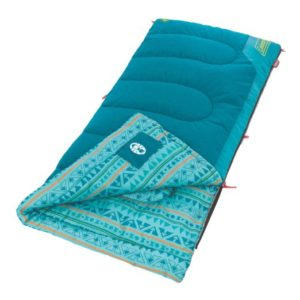 If your Girl Scout troop is tent camping, here is a Coleman sleeping bag for their comfort. It comes in many colors.