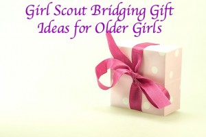 Girl Scout Bridging Gift Ideas for Older Scouts. These are inexpensive items that you do not have to spend time creating.