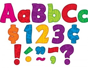 This set of bulletin board letters are perfect for your Kaper chart!