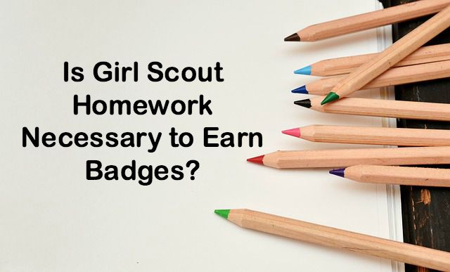 Is it necessary to give girls asignements at home so they can complete their badge work?