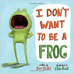 To earn the Purple daisy petal, read I Don't Want to Be a Frog. This book is about a frog who wants to be anything BUT a frog. A funny lesson in self-acceptance.