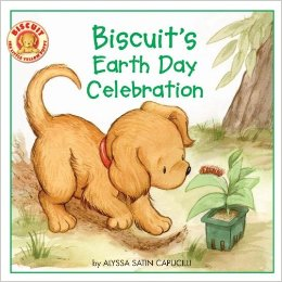 A fun way to alunch your meeting to earn the green Daisy petal, Use Resources Wisely, is to read this Earth Day book featuring Biscuit.