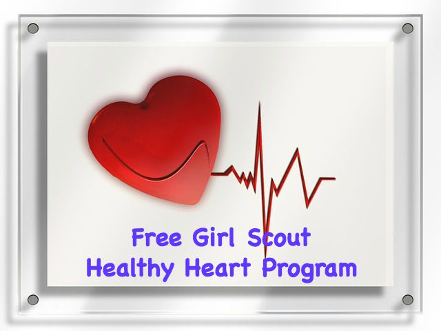 Girl Scout free Go Red Girl Scouts Patch Program. Girls do activities to earn this patch.