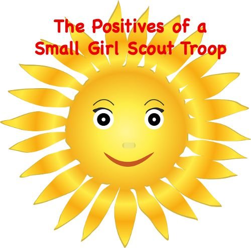 While it is sad to see girls leave your troop, there are several upsides to having a smaller troop, especially when the girls are older.