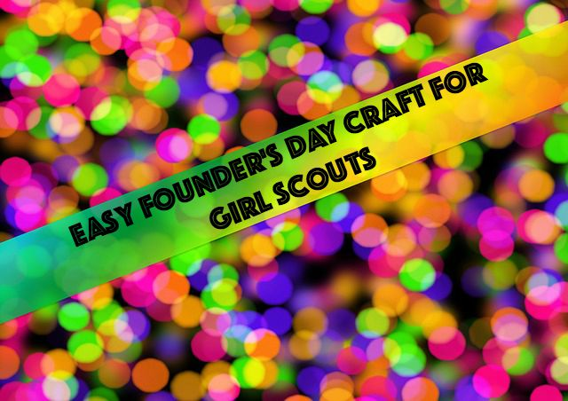Use duct tape for an easy Girl Scout Founder's Day craft.