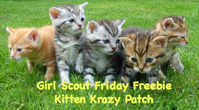 This Girl Scout free patch program comes from Kitten Krazy in Ohio.