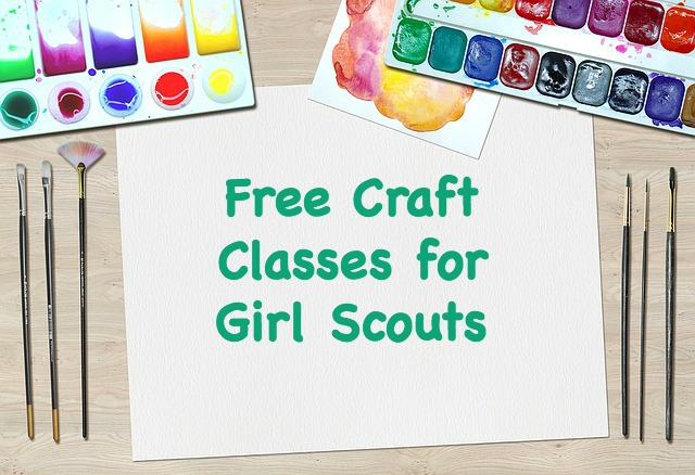 Your troop can take a free craft class at Michael's Craft stores. Find out what your local store is offering.