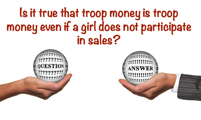 Whether leaders like it or not, there is an official policy on troop money being troop money. This is meant to protect the girls.