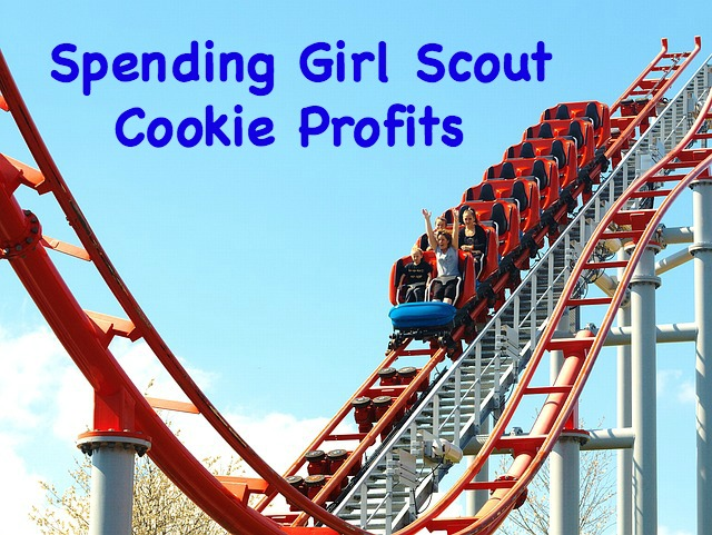 How does your troop decide how to spend their Girl Scout cookie profits? What do you do if all girls cannot attend?