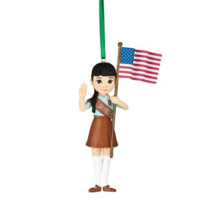 For Brownie Girl Scouts, here is a Christmas ornament to celebrate their time earning Try It badges.