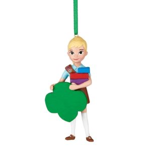 Here is another Brownie Girl Scout Christmas ornament. You may be able to personalize the trefoil with a gold or silver Sharpie.