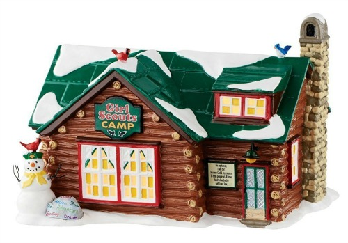 This beautiful Girl Scout log cabin figurine makes a wonderful gift to give yourself.