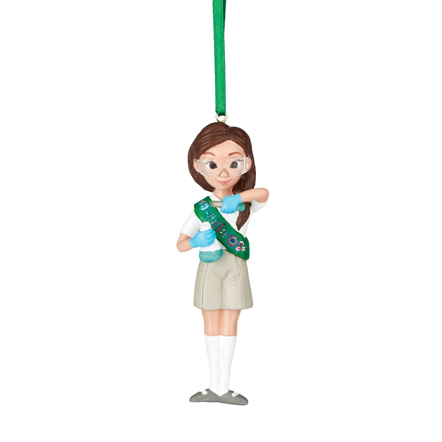 Department 56 Girl Scouts of America Junior Scientist Hanging Ornament, 3.5 inch