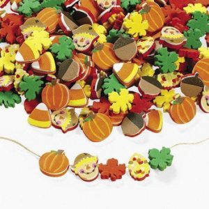 Package of 500 Thanksgiving and fall beads make easy crafts and gifts for Girl Scout leaders of younger troops.