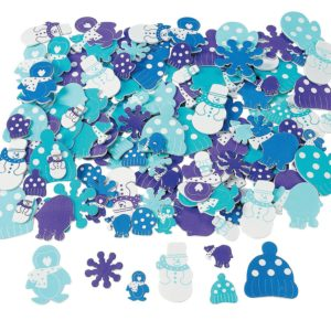 These winter foam shapes are perfect for making cards, decorating picture frames and decorating jars, gift bags and gift boxes.