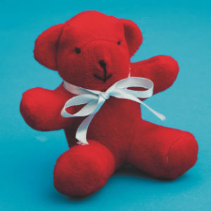 Valentine's Day craft kit that makes 12 bears. Give out to those in nursing homes or send overseas to those in the service for a meaningful craft and meeting.