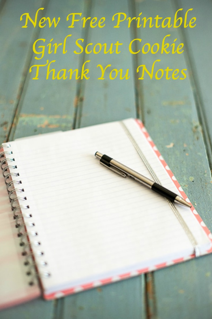 Free printable Girl Scout cookie thank you notes for your troop to use.