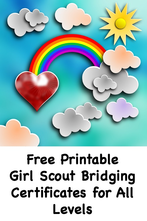 picture about Girl Scout Certificates Printable Free named No cost Printable Female Scout Bridging Certificates for All