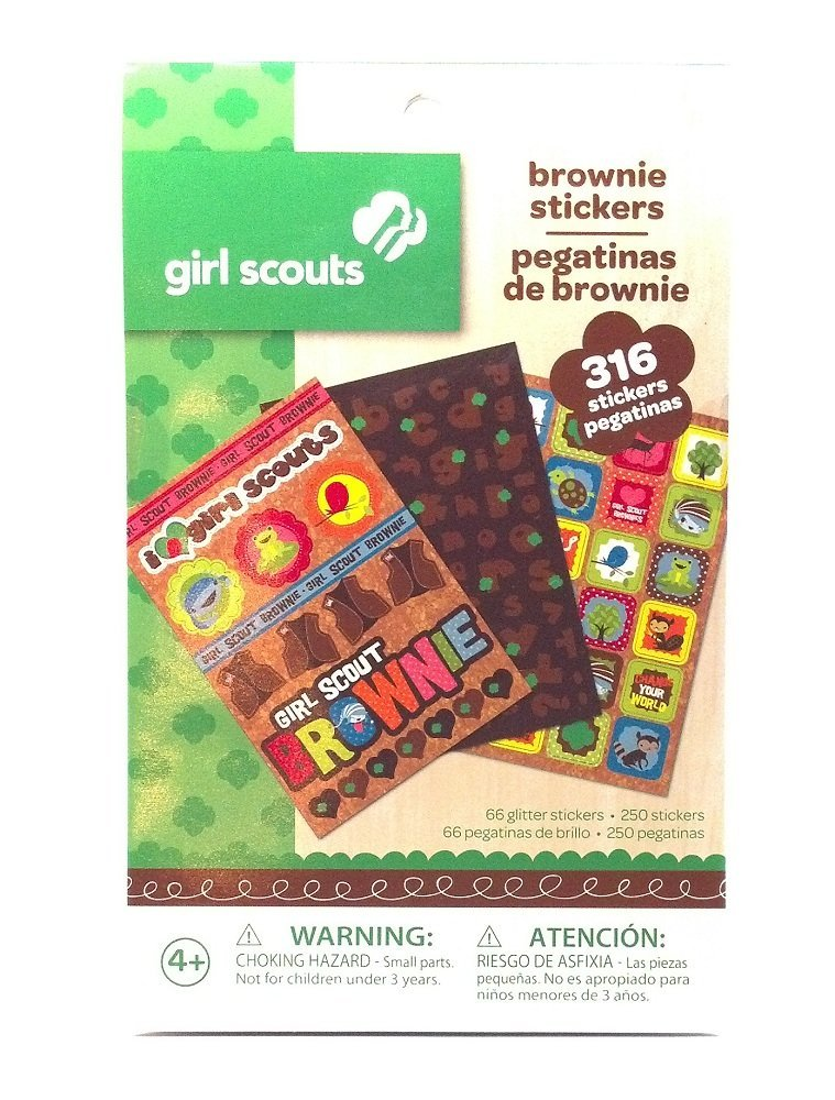 Girl Scout Brownie stickers for all kinds of crafts