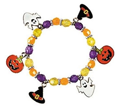 This Halloween charm bracelet kit comes with enough for 12 bracelets