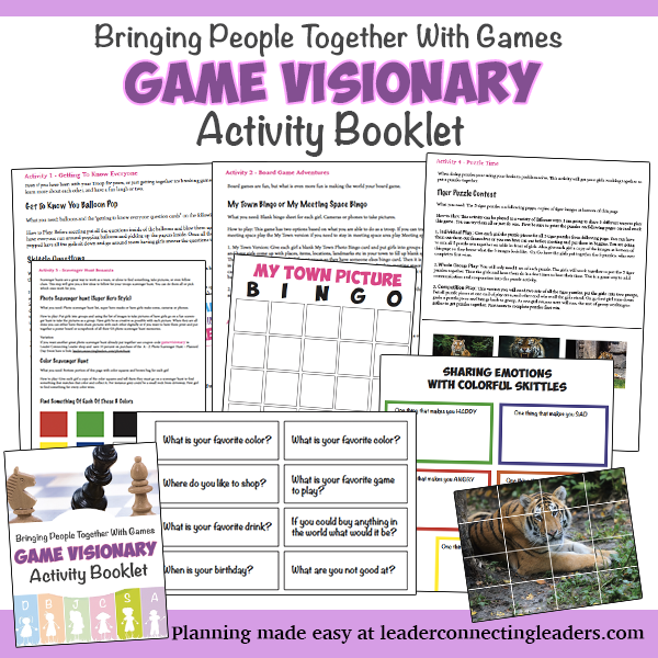 Girl Scout Senior Game Visionary badge activity booklet