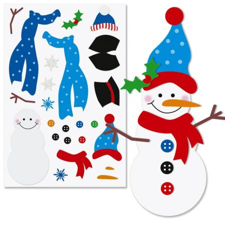 This Decorate a Snowman stikcer sheet is a fun and inexpensive activity for younger Girl Scout troops.
