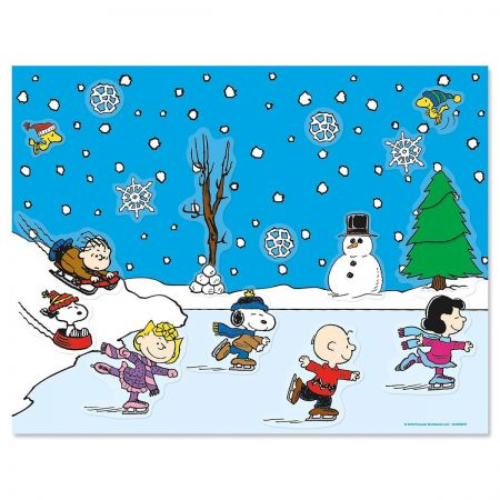 This Peanuts activity sticker sheet is a great little gift topper or stocking stuffer.