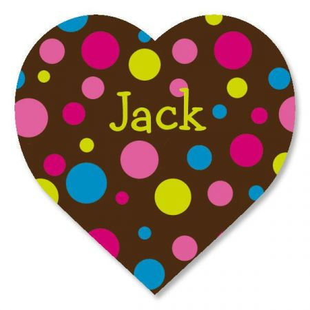 Personalized heart stickers make a great gift.
