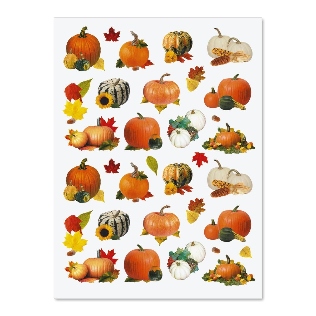 Pumpkin fall stickers for Thanksgiving cards