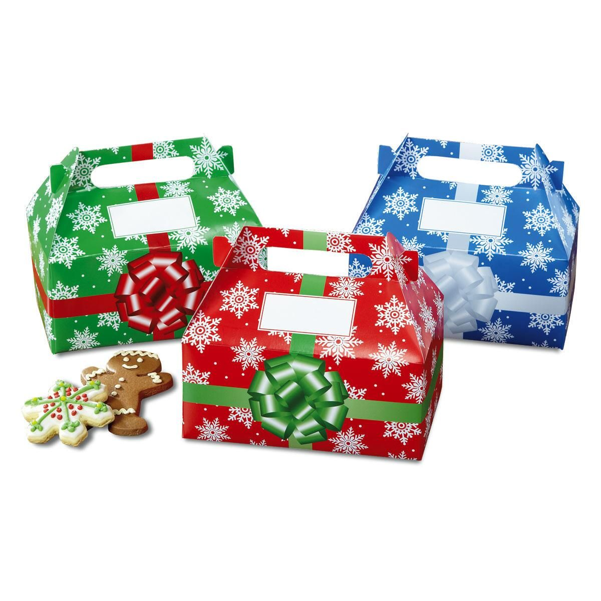Put gifts for your troop in these adorable treat boxes-no wrapping necessary!