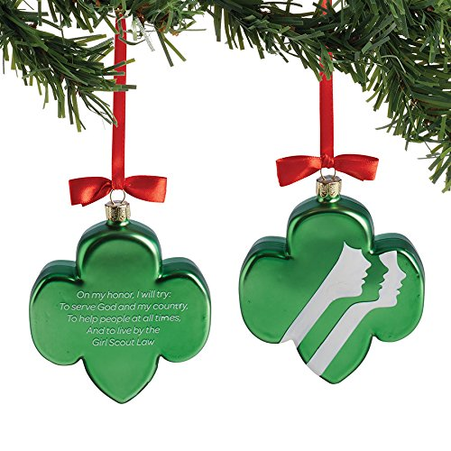 Department 56 Girl Scouts Trefoil Oath Hanging Ornament