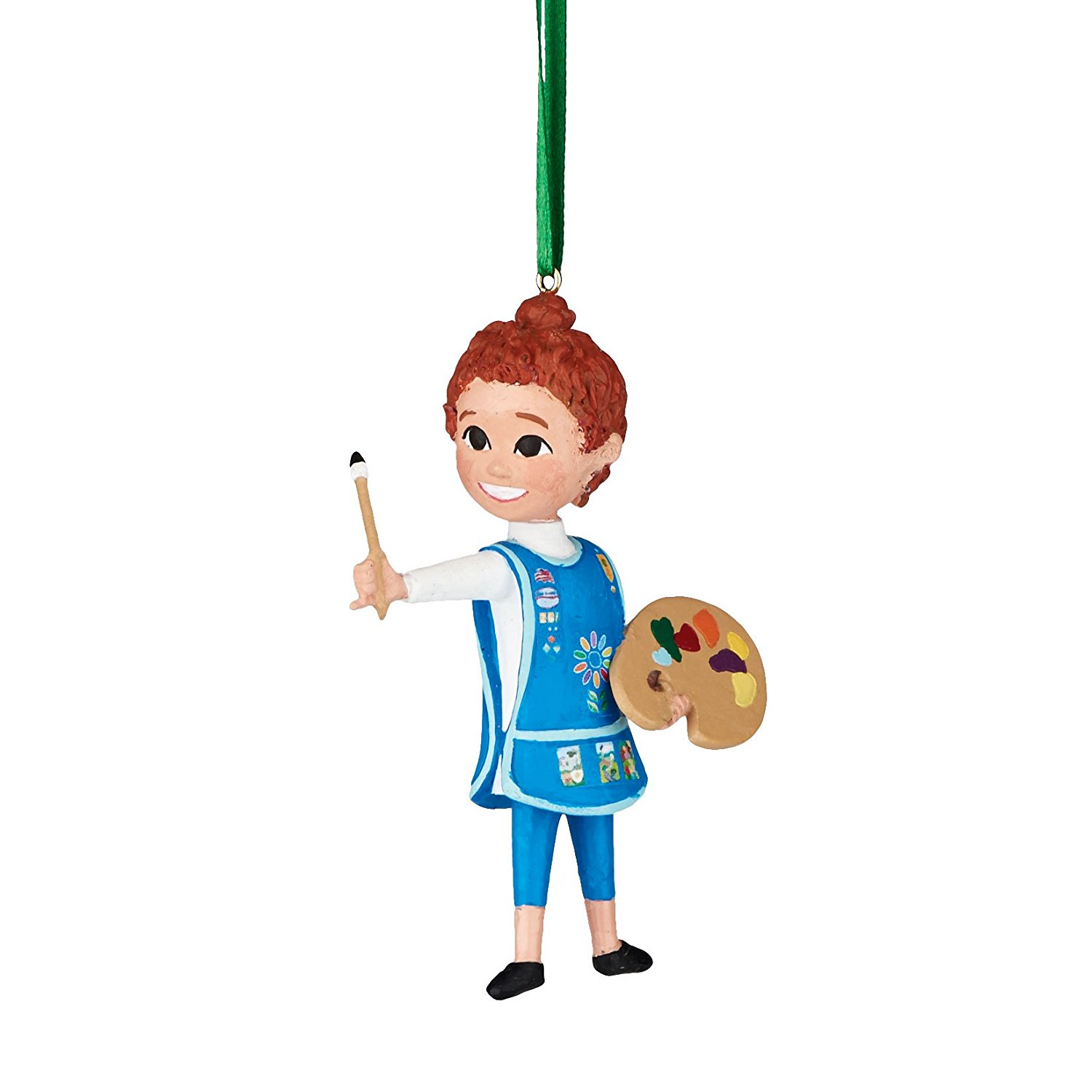 Department 56 Girl Scouts of America Daisy the Artist Hanging Ornament, 3 inch