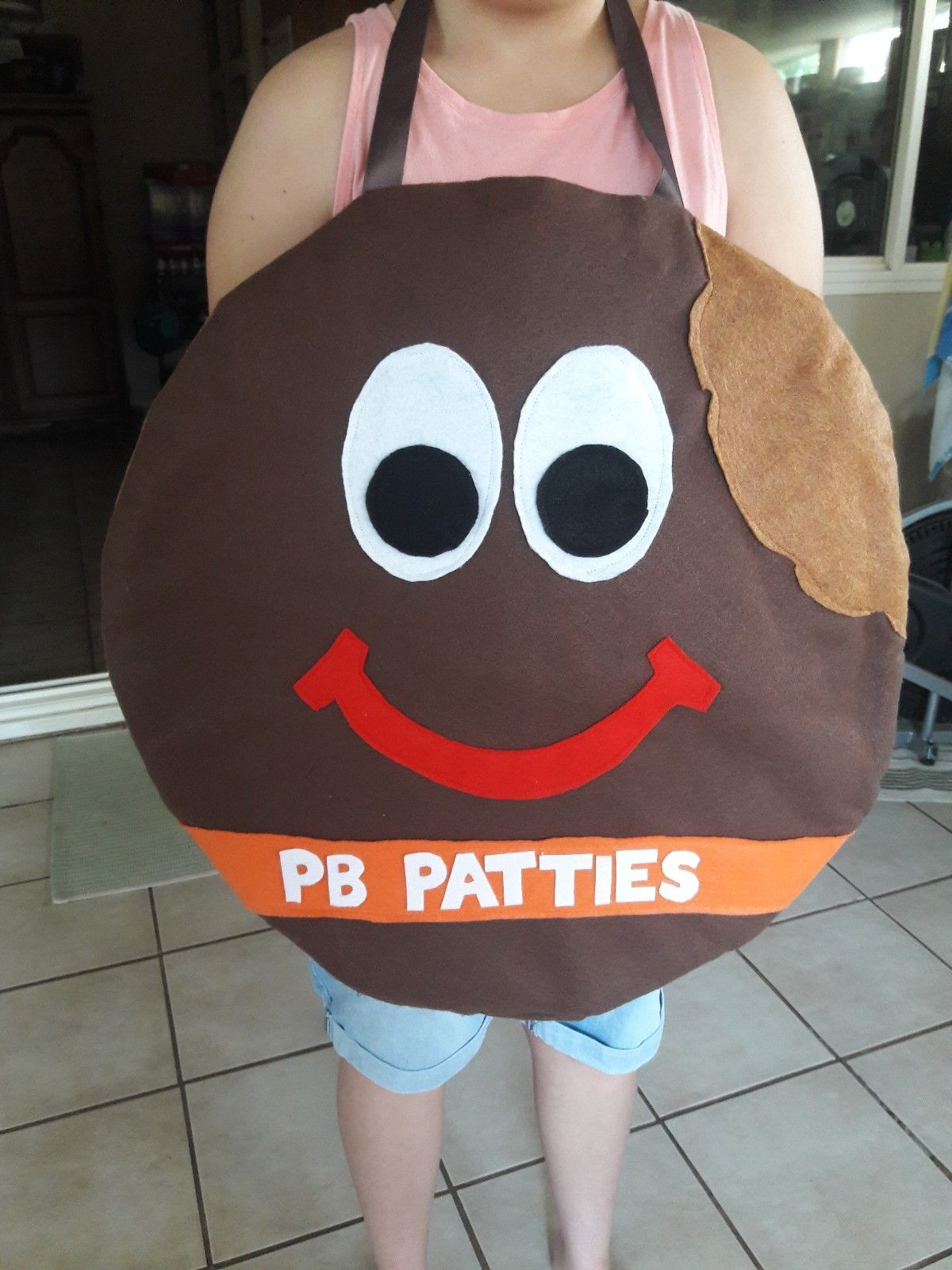 Girl Scout Peanut Butter Pattie costume for booths and walkabouts